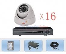 Bộ 16 Camera quan sát 960H