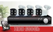 Bộ 4 Camera quan sát HD
