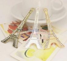 Phụ kiện đính đá gắn ốp hình tháp Eiffel