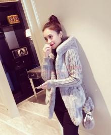 Áo khoác lông, tay len dáng dài