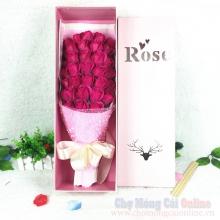 Hoa hồng sáp hộp 33 bông HQ024