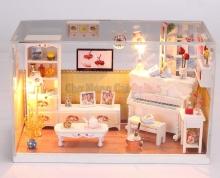 Mô hình nhà DIY - Phòng trà xinh xắn