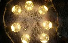 Dây đèn trang trí cửa hàng đèn E27
